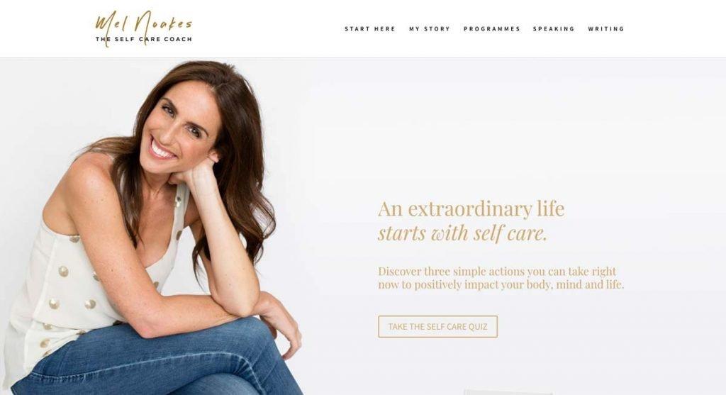 Life Coach Website Example - Mel Noakes
