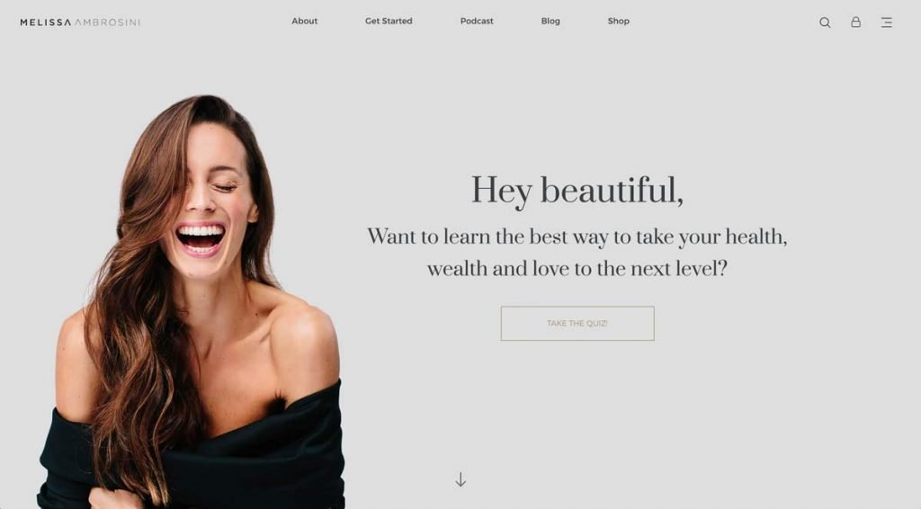 Life Coach Website Example - Melissa Ambrosini